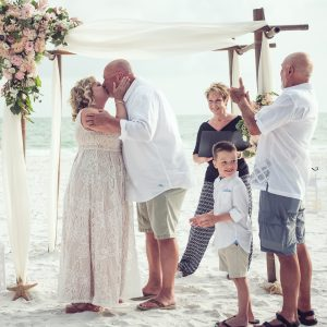 Anna Maria Island beach wedding ceremony