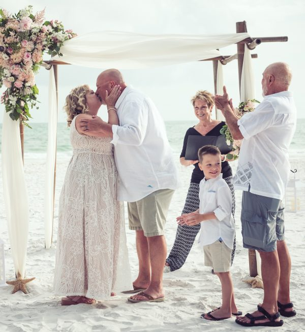 Anna Maria Island beach wedding ceremony