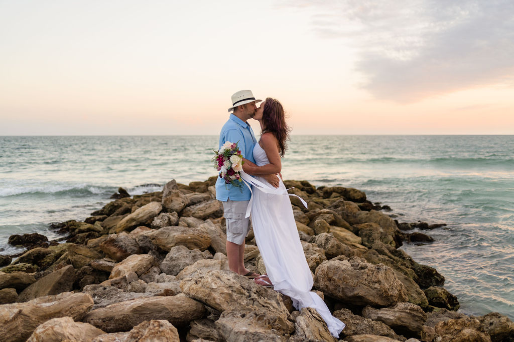 Married on Rocks at Lido Beach